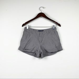 Banana Republic Martin Fit Linen Blend Gray Shorts